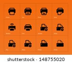 printer icons on orange...
