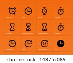 time and clock icons on white... | Shutterstock .eps vector #148755089