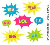 retro style speech bubbles with ... | Shutterstock .eps vector #148755938
