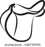 english horse saddle | Shutterstock .eps vector #148755950