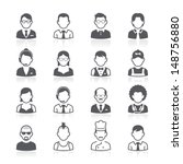 business people avatar icons.... | Shutterstock .eps vector #148756880