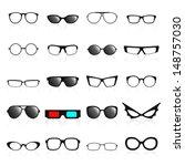 glasses frame icons. vector... | Shutterstock .eps vector #148757030