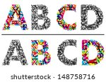 colorful and monochrome... | Shutterstock .eps vector #148758716