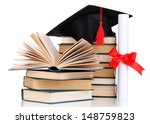 grad hat with diploma and books ... | Shutterstock . vector #148759823