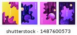 set of abstract templates for... | Shutterstock .eps vector #1487600573
