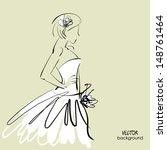 art sketch  1 of beautiful...   Shutterstock .eps vector #148761464