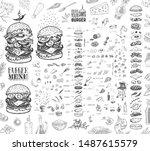 burger menu. vintage template... | Shutterstock .eps vector #1487615579