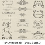 calligraphic design elements | Shutterstock .eps vector #148761860