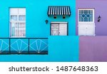 Purple And Blue Facade With...