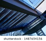 perspective from under the city ...   Shutterstock . vector #1487654156