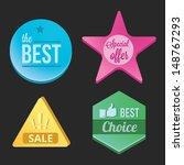 modern vector badges set