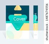 vector design  cover report... | Shutterstock .eps vector #1487674556