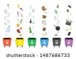 separate garbage collection... | Shutterstock .eps vector #1487686733