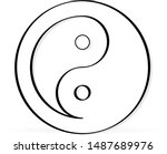sign of chinese philosophy of...   Shutterstock .eps vector #1487689976