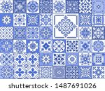 vector collection of blue and...   Shutterstock .eps vector #1487691026