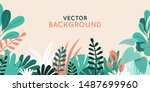 vector illustration in simple... | Shutterstock .eps vector #1487699960