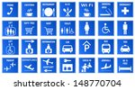 blue airport icons set.vector...   Shutterstock .eps vector #148770704
