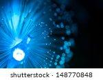 blue fiber optic background.... | Shutterstock . vector #148770848