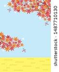 illustration of the autumn... | Shutterstock .eps vector #1487710130