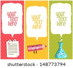 vertical school banners or... | Shutterstock .eps vector #148773794
