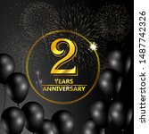 2 year anniversary celebration. ...   Shutterstock .eps vector #1487742326