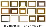frames a picture antiques set | Shutterstock . vector #1487743859