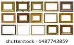 frames a picture antiques set | Shutterstock . vector #1487743859