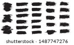 vector set black paint ink... | Shutterstock .eps vector #1487747276