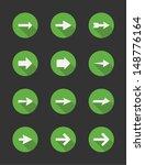 set of 12 various arrow... | Shutterstock .eps vector #148776164