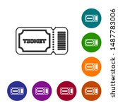 grey line ticket icon isolated... | Shutterstock .eps vector #1487783006