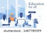 landing page template of online ... | Shutterstock .eps vector #1487789399