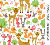 cute childish seamless pattern... | Shutterstock .eps vector #148779230