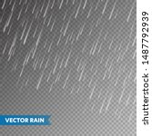 realistic rain texture on...   Shutterstock .eps vector #1487792939