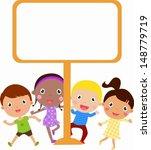 kids and banner   Shutterstock .eps vector #148779719