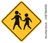 School Warning  Sign.