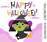 halloween character... | Shutterstock .eps vector #1487807246