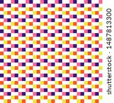 woven seamless pattern color...   Shutterstock .eps vector #1487813300