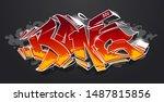 bang   wild style graffiti 3d...   Shutterstock .eps vector #1487815856