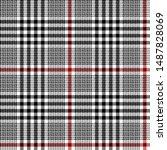black  red and white tartan...   Shutterstock .eps vector #1487828069