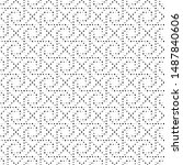 dotted seamless pattern.... | Shutterstock .eps vector #1487840606