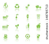 ecology icon set | Shutterstock .eps vector #148785713