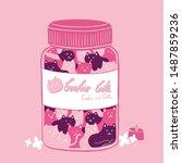 vector art is cookie cats | Shutterstock .eps vector #1487859236