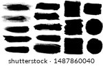 set of strokes stock with... | Shutterstock .eps vector #1487860040