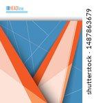 annual report  brochure  flyer... | Shutterstock .eps vector #1487863679