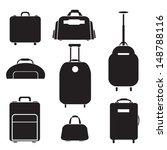 luggage set vector | Shutterstock .eps vector #148788116