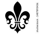 French Fleur De Lis Vector Icon ...