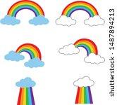rainbow icon on white...