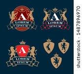 crest  coat of arms  heraldry... | Shutterstock .eps vector #1487896970
