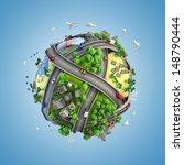 Concept Globe Showing Diversit...