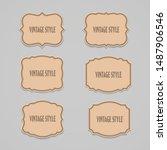 vector set vintage style label... | Shutterstock .eps vector #1487906546